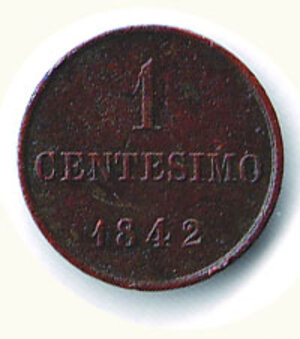 reverse: SAVOIA - Carlo Alberto - Monetazione sarda - 1 Cent. 1842.