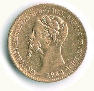 obverse: SAVOIA - Vittorio Emanuele II (Re di Sardegna) - 20 Lire 1852 Ge.