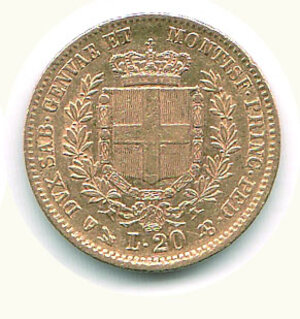 reverse: SAVOIA - Vittorio Emanuele II (Re di Sardegna) - 20 Lire 1852 Ge.