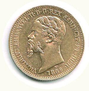obverse: SAVOIA - Vittorio Emanuele II (Re di Sardegna) - 20 Lire 1859 Ge.