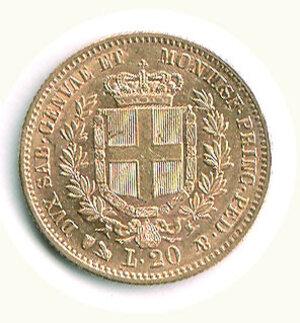 reverse: SAVOIA - Vittorio Emanuele II (Re di Sardegna) - 20 Lire 1859 Ge.