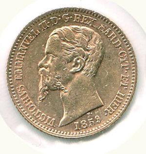 obverse: VITTORIO EMANUELE II re di sardegna - 20 Lire 1859
