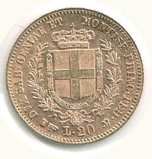 reverse: VITTORIO EMANUELE II re di sardegna - 20 Lire 1859