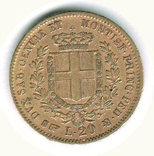 reverse: SAVOIA - Vittorio Emanuele II (re di Sardegna) - 20 Lire 1861 To.