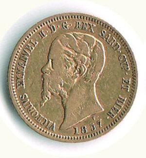 obverse: SAVOIA - Vittorio Emanuele II (re di sardegne) - 10 Lire 1857 To.