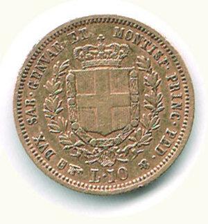 reverse: SAVOIA - Vittorio Emanuele II (re di sardegne) - 10 Lire 1857 To.