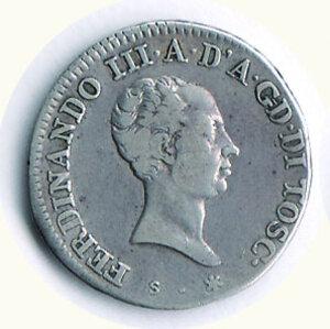 obverse: FIRENZE - Ferdinando III di Lorena (1790-1824) - Lira 1823.