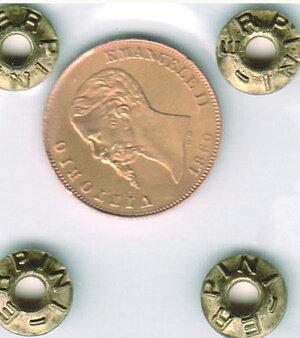 obverse: SAVOIA - Vittorio Emanuele II - 10 Lire 1860 Bo