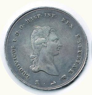 obverse: FIRENZE - Regno d'Etruria - Carlo Ludovico - Francescone 1803