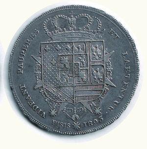 reverse: FIRENZE - Regno d'Etruria - Carlo Ludovico - Francescone 1803
