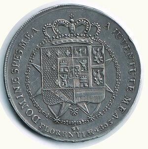 reverse: FIRENZE - Carlo Ludovico - Reggenza della madre - Dena 1807.