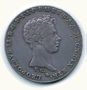 obverse: FIRENZE - Leopoldo II - Mezzo Francescone