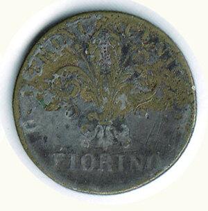 reverse: FIRENZE - Leopoldo II - Fiorino falso dell'epoca.