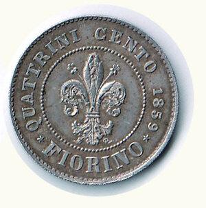 reverse: FIRENZE - Governo provvisorio di Toscana 1859 - Fiorino.