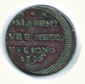 reverse: FOLIGNO Pio VI - 2 1/2 Baiocchi 1796