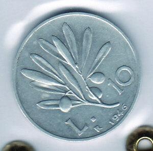 obverse: REPUBBLICA - 10 Lire 1946 - Sigillata Olivari.