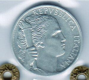 reverse: REPUBBLICA - 5 Lire 1946 - Sigillata Olivari.