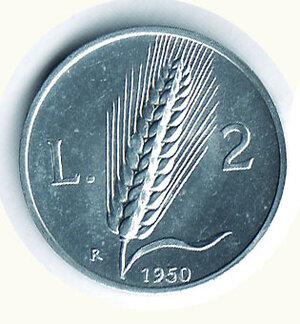 obverse: REPUBBLICA - 2 Lire 1950.