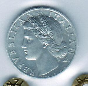 obverse: REPUBBLICA - 1 Lira 1947 - Sigillata Olivari.