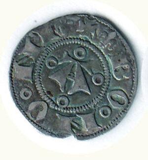 obverse: BOLOGNA Comune (1376-1401) Bolognino g.1,16 D/A gotica tra 4 anellini; R/ O-R-V-M a croce nel campo C.N.I. 14/34.