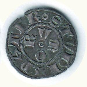 reverse: BOLOGNA Comune (1376-1401) Bolognino g.1,16 D/A gotica tra 4 anellini; R/ O-R-V-M a croce nel campo C.N.I. 14/34.