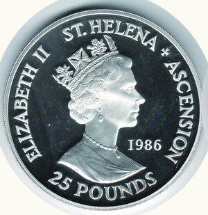 ST. HELENA e ASCENSION - 25 Pounds 1986