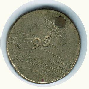 reverse: GENOVA Peso del 96 lire Oro - Stemma barocco