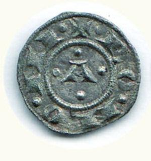 obverse: BOLOGNA Comune (1191-1337) Bolognino piccolo a nome di Enrico VI di Svevia D/A. gotica tra 4 bisanti; R/ P-R-T-I - a croce nel campo C.N.I. 2/5. g.0,54.