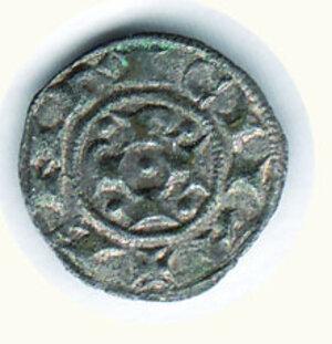 reverse: BOLOGNA Comune (1191-1337) Bolognino piccolo a nome di Enrico VI di Svevia D/A. gotica tra 4 bisanti; R/ P-R-T-I - a croce nel campo C.N.I. 2/5. g.0,54.