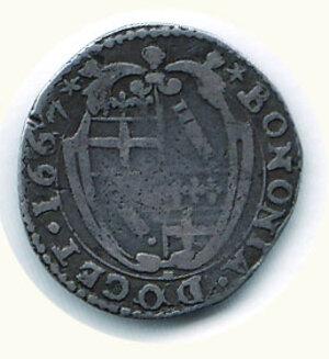 reverse: BOLOGNA - Alessandro VII (1655-1657) - Carlino