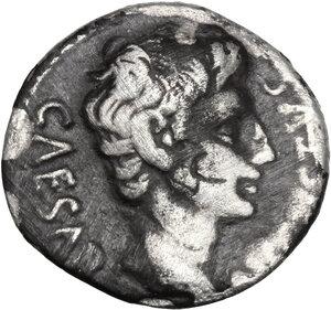 obverse: Augustus (27 BC - 14 AD).. AR Denarius. Uncertain Spanish mint (Colonia Patricia?). Struck circa 19 BC