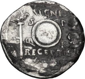 reverse: Augustus (27 BC - 14 AD).. AR Denarius. Uncertain Spanish mint (Colonia Patricia?). Struck circa 19 BC