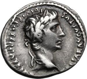 obverse: Augustus (27 BC - 14 AD).. AR Denarius, 2 BC-4 AD, Lugdunum mint