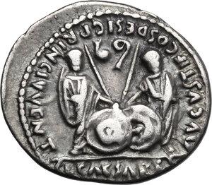 reverse: Augustus (27 BC - 14 AD).. AR Denarius, 2 BC-4 AD, Lugdunum mint