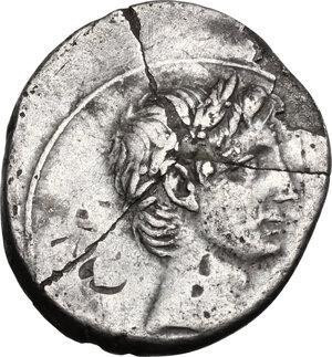obverse: Augustus (27 BC - 14 AD).. AR Denarius, uncertain italian mint (Brundisium and Rome?), 29-27 BC