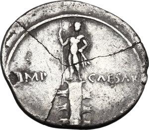 reverse: Augustus (27 BC - 14 AD).. AR Denarius, uncertain italian mint (Brundisium and Rome?), 29-27 BC
