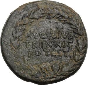 reverse: Augustus (27 BC - 14 AD).. AE Dupondius. Rome mint, C. Cassius Celer, moneyer. Struck 16 BC