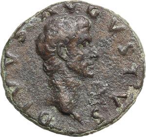 obverse: Divus Augustus (died 14 AD).. AE As, struck under Nerva, 98 AD