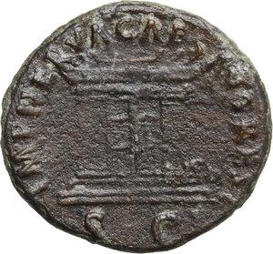 reverse: Divus Augustus (died 14 AD).. AE As, struck under Nerva, 98 AD