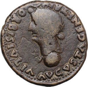 reverse: Augustus (27 BC - 14 AD).. AE Dupondius, Spain, Colonia Romula mint, after 16 AD