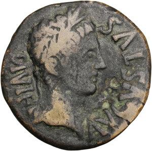 obverse: Augustus (27 BC - 14 AD).. AE As, Ercavica mint (Hispania)