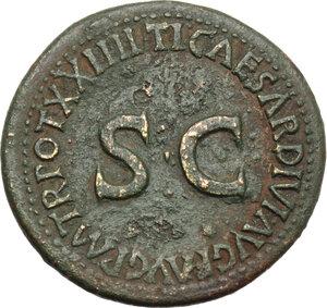 reverse: Livia, wife of Augustus (Augusta 14-29 AD).. AE As, struck under Tiberius, 22-23 AD