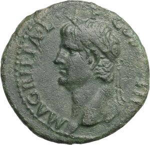 obverse: Agrippa (died in 12 AD).. AE As, struck under Gaius, 37-41