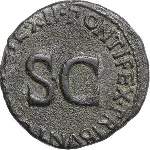 reverse: Tiberius as Caesar (4-14).. AE As, 10-11