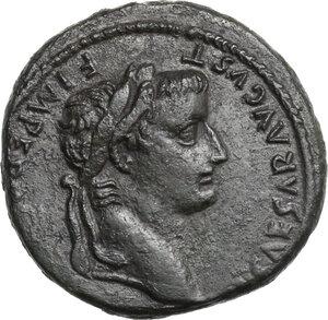 obverse: Tiberius (14-37).. AE As, 14-21, Lugdunum mint