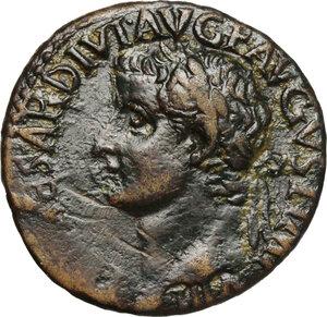 obverse: Tiberius (14-37).. AE As, 36-37