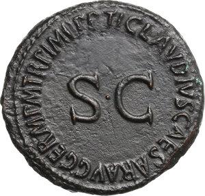 reverse: Germanicus (died 19 AD).. AE As, struck under Claudius, 50-54