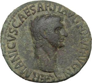 obverse: Germanicus (died 19 AD).. AE As. Struck under Claudius, 50-54