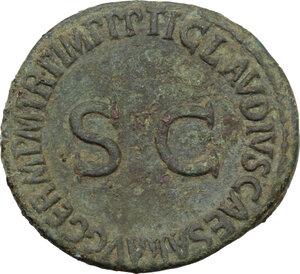 reverse: Germanicus (died 19 AD).. AE As. Struck under Claudius, 50-54
