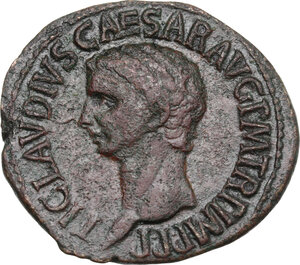 obverse: Claudius (41-54).. AE As. Claudius. Struck 41-circa 50 AD